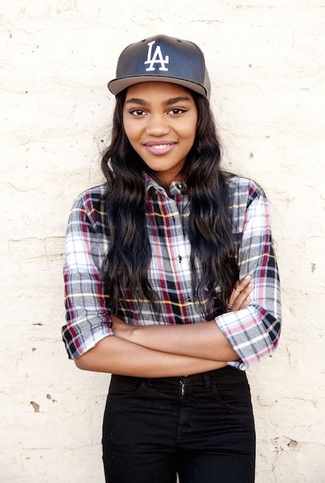 China Anne McClain during a photoshoot for Bop and Tiger Beat Knott's Berry Farm in December 2014
