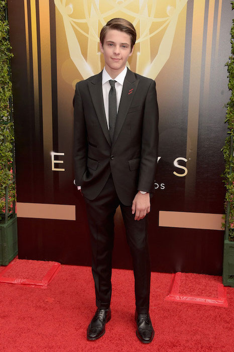 Corey Fogelmanis at 2015 Creative Arts Emmy Awards