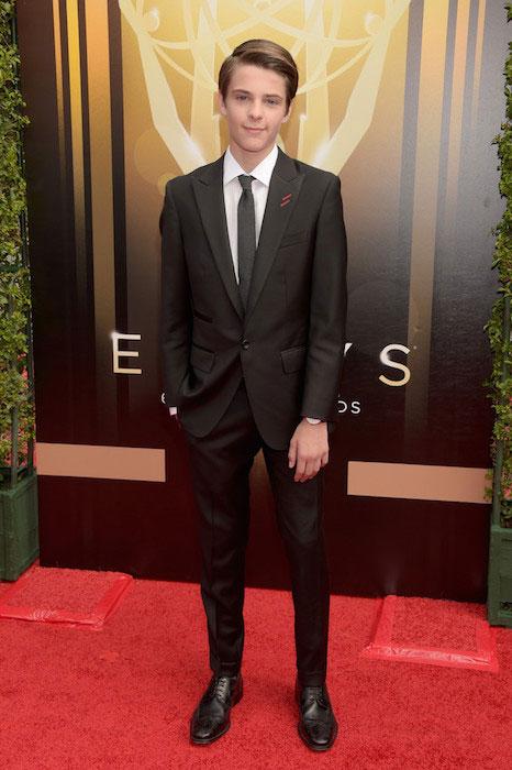 Corey Fogelmanis at 2015 Creative Arts Emmy Awards