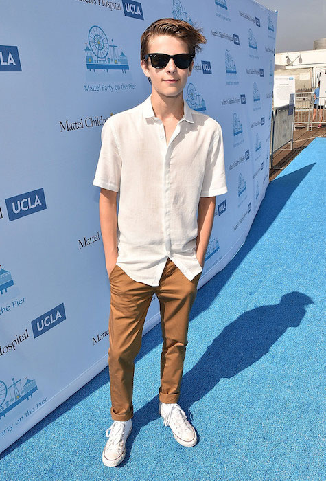 Corey Fogelmanis at the Mattel Party On The Pier at Santa Monica Pier in September 2015