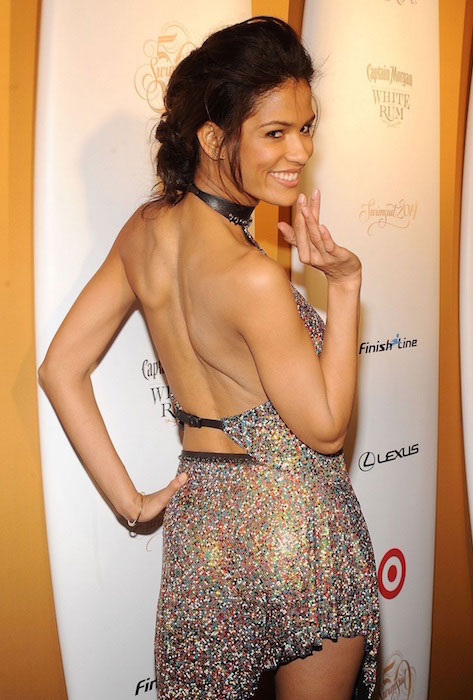 Cris Urena at Sports Illustrated Swimsuit 50 Years of Swim celebration in New York