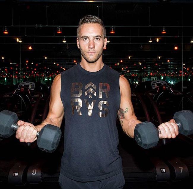 Derek Degrazio showing bicep workout