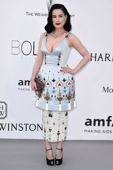 Dita Von Teese at 2015 amfAR Cinema Against AIDS Gala
