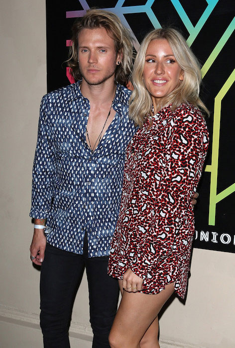 Dougie Poynter and Ellie Goulding during the Years & Years album launch party in July 2015