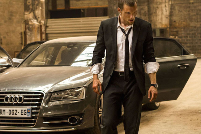 """Ed Skrein in a movie still from """"The Transporter Refueled"""" (2015)."""