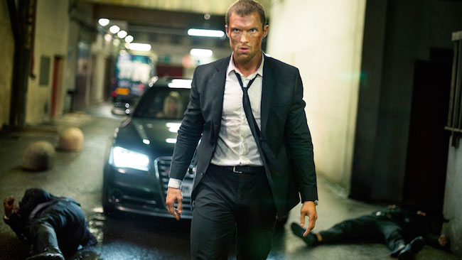 "Ed Skrein in a still from ""The Transporter Refueled"" (2015)"