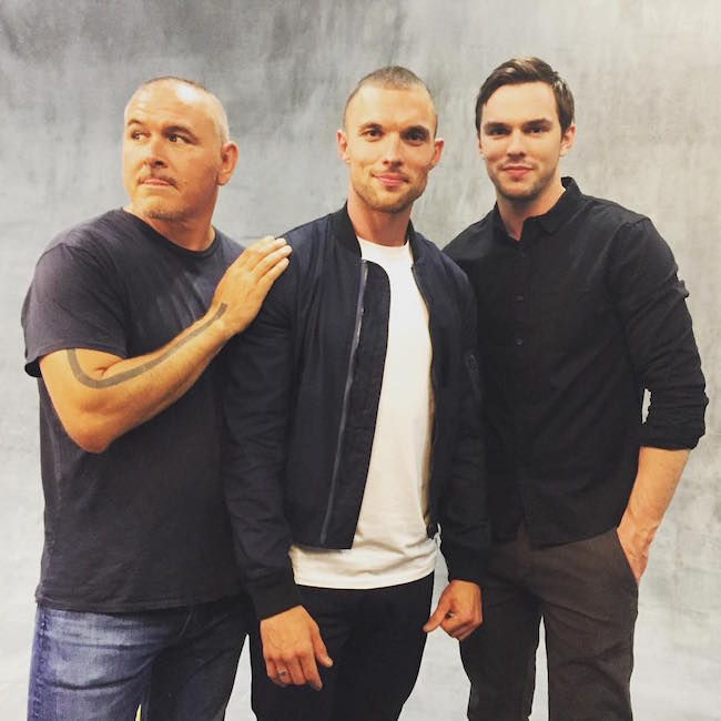 Ed Skrein with Deadpool director and actor Nicholas Hoult