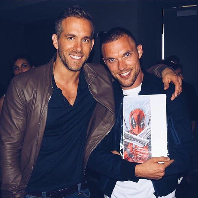 Ed Skrein with Ryan Reynolds