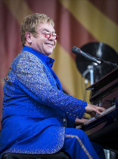 Elton John during day 6 of Jazz Fest