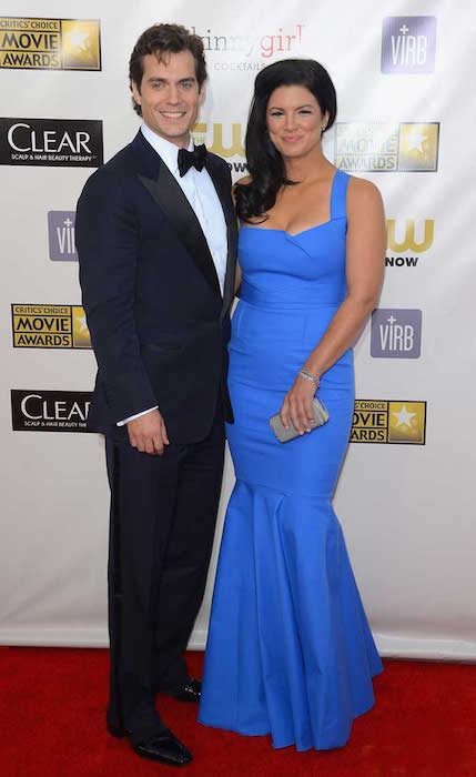 Gina Carano and Henry Cavill during the 18th Annual Critics Choice Movie Awards