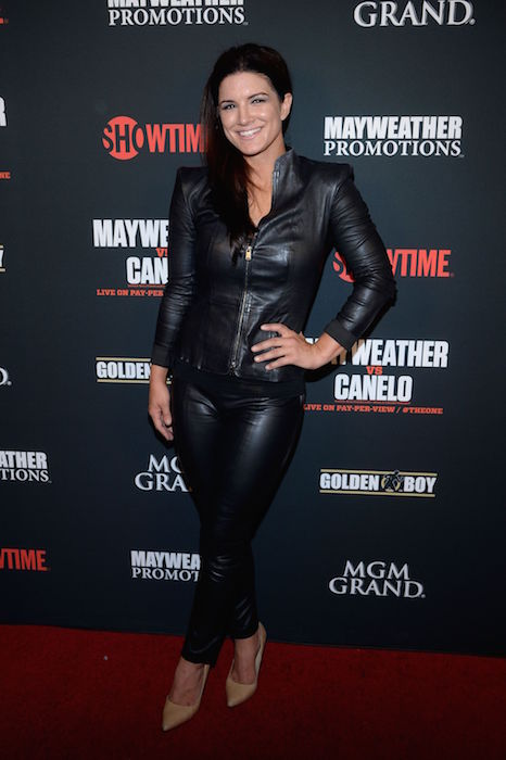 Gina Carano at The Mayweather Jr vs Alvarez Boxing Match In Las Vegas in 2013