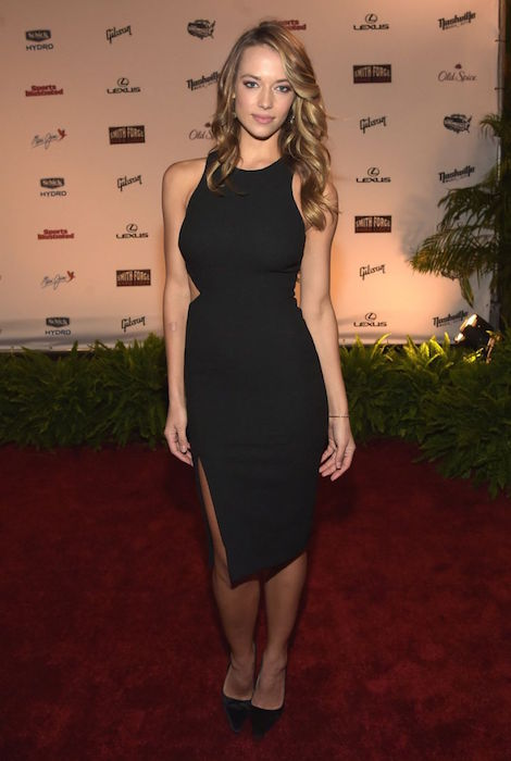Hannah Ferguson at SI Swim 2015 Takes Over the Schermerhorn Symphony Center in Nashville in February 2015
