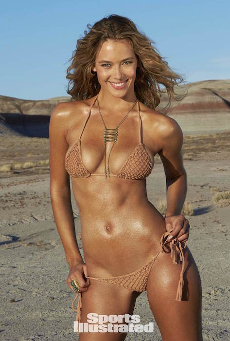 Hannah Ferguson posing for Sports Illustrated Swimsuit Issue 2015