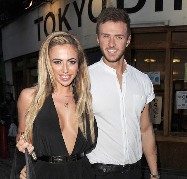 Holly Hagan and Kyle Christie