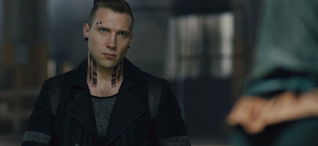 Jai Courtney in a movie still
