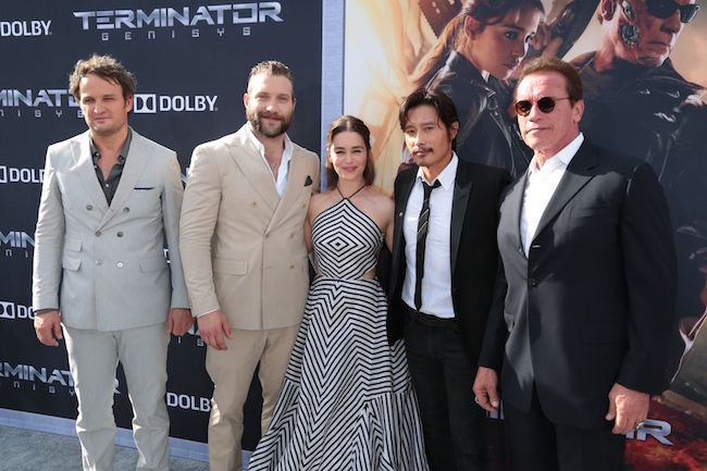 "Jai Courtney with ""Terminator"" cast"