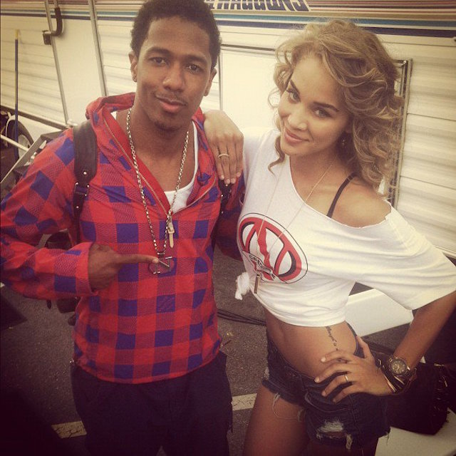 Jasmine Sanders and Nick Cannon