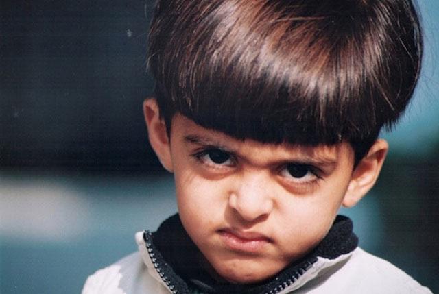 Karan Brar as a kid (childhood picture)