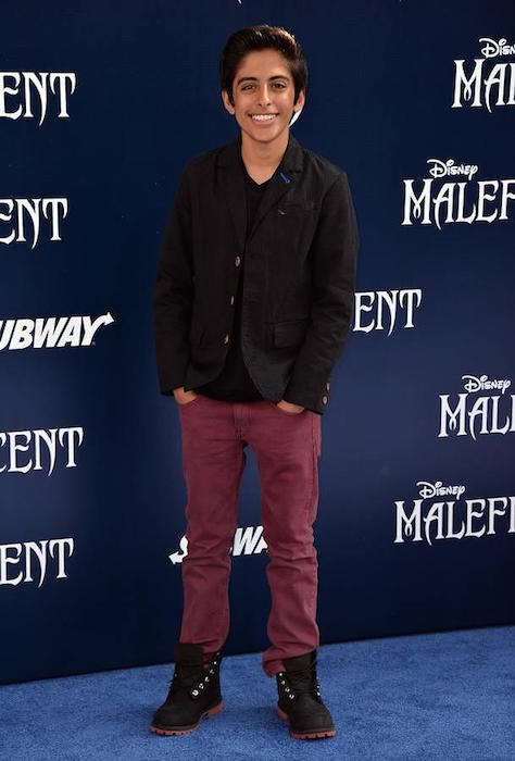 Karan Brar during the world premiere of Disney's Maleficent in 2014