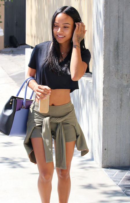 Karrueche Tran out in Beverly Hills in September 2015