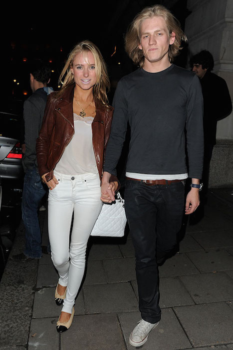 Kimberley Garner and her ex-boyfriend Richard Dinan
