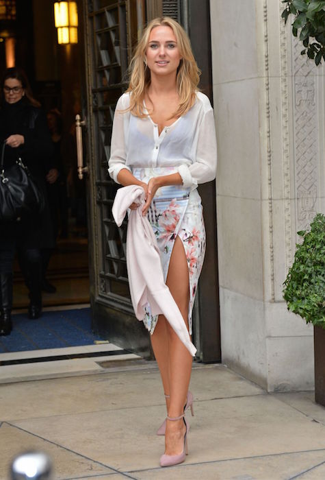 Kimberley Garner at Jamie Wei Huang Fashion Show in London in February 2015