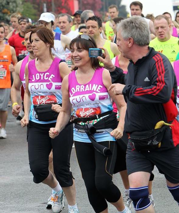 Lorraine Kelly taking part in the Virgin Money 30th London Marathon