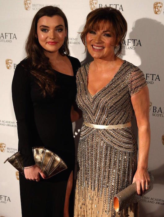 Lorraine Kelly with her daughter Rosie during BAFTAs in Glasgow