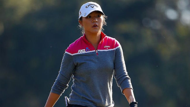 Lydia Ko during a practice session of golf