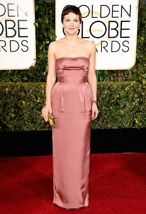 Maggie Gyllenhaal during Golden Globe Awards 2015