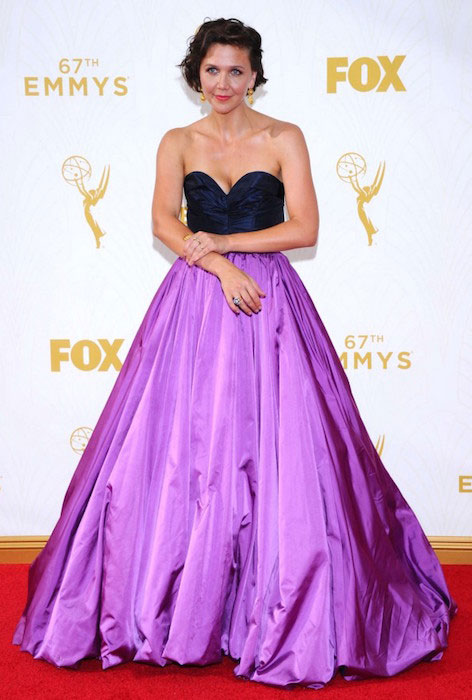 Maggie Gyllenhaal at 2015 Emmy Awards