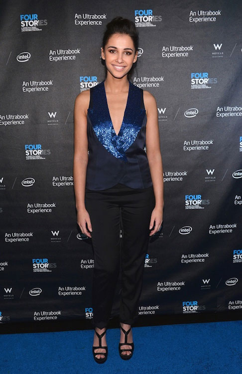 "Naomi Scott during the after party of ""Four Stories"" premiere in December 2012"