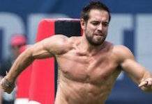 Rich Froning during CrossFit workout session