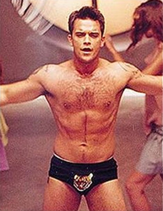 Robbie Williams body at display