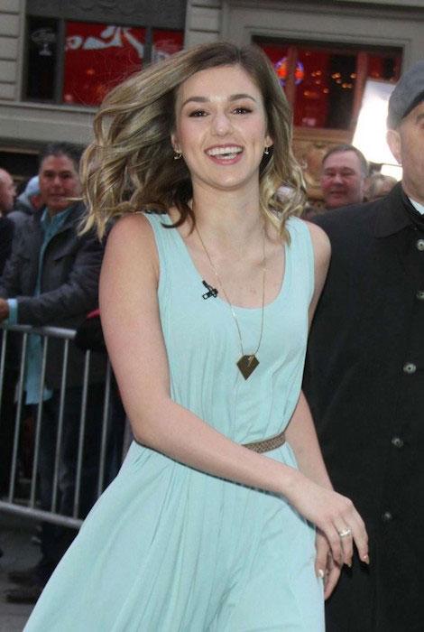 Sadie Robertson at Good Morning America in New York City in April 2015