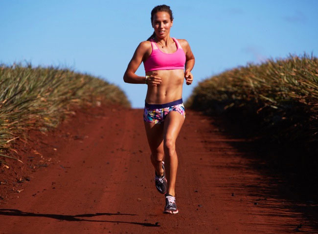Sally Fitzgibbons running