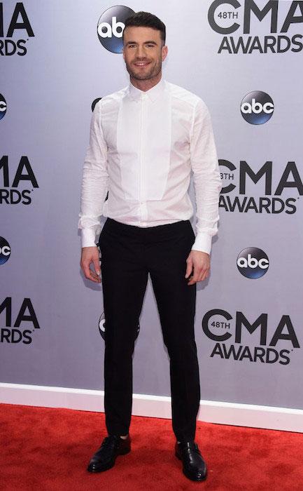 Sam Hunt during CMA Awards 2014