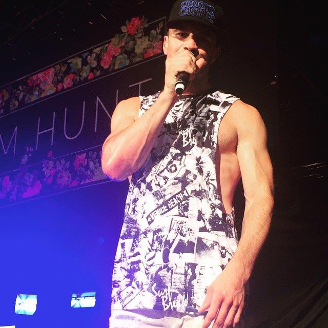 Sam Hunt muscular body