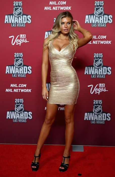 Samantha Hoopes at 2015 NHL Awards in Las Vegas