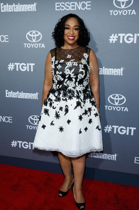 Shonda Rhimes after weight loss at the celebration of ABC's TGIT lineup in Hollywood on September 26, 2015