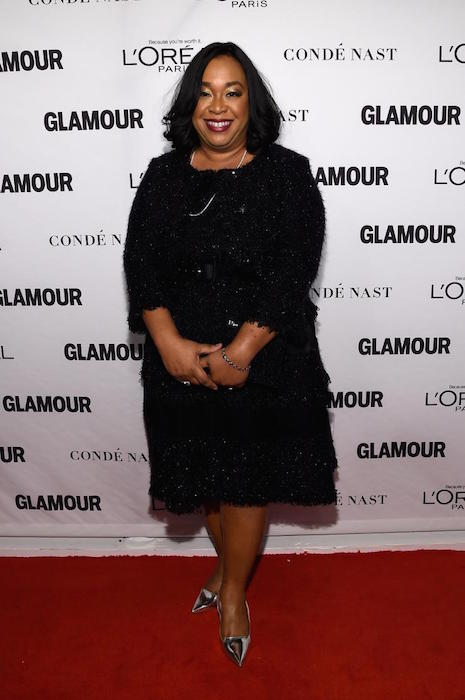 Shonda Rhimes at the Glamour 2014 Women Of The Year Awards before weight loss
