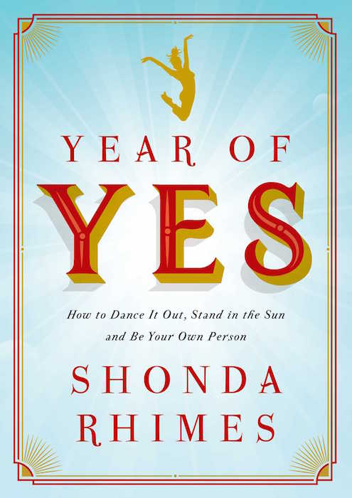 "Shonda Rhimes book cover ""Year of Yes"""