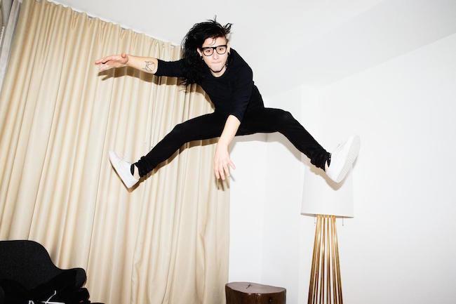 Skrillex jumping