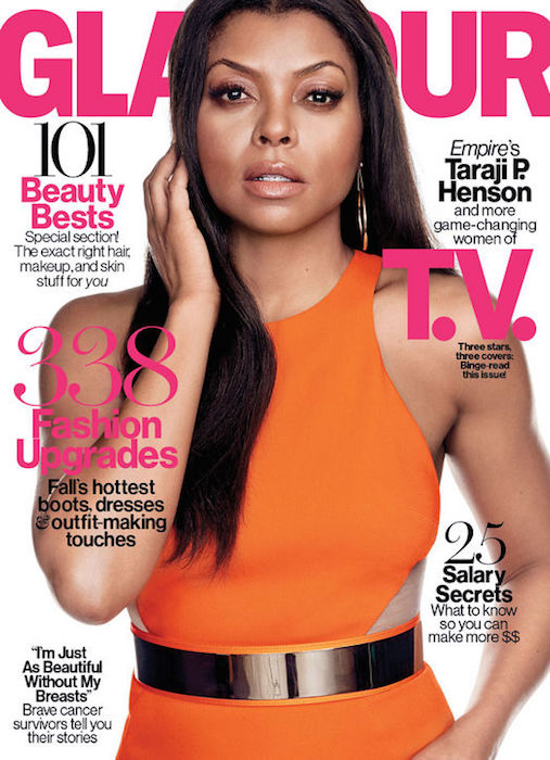 Taraji P. Henson graces Glamour's October 2015 Issue
