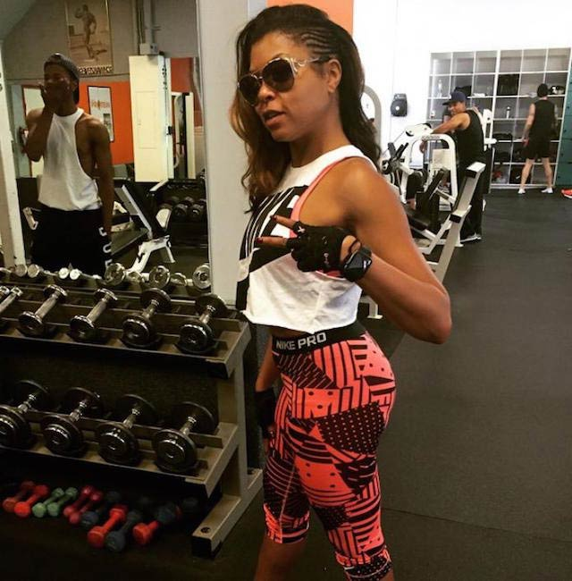 Taraji P. Henson in gym