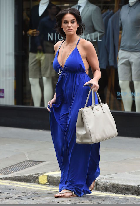 Vicky Pattison's summer style shopping in London in July 2015