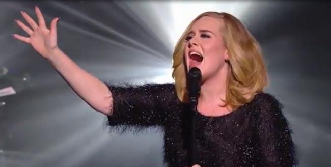 Adele at NRJ Music Awards in November 2015