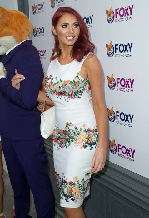 Amy Childs at 2015 Foxy's Love Shop launch in London