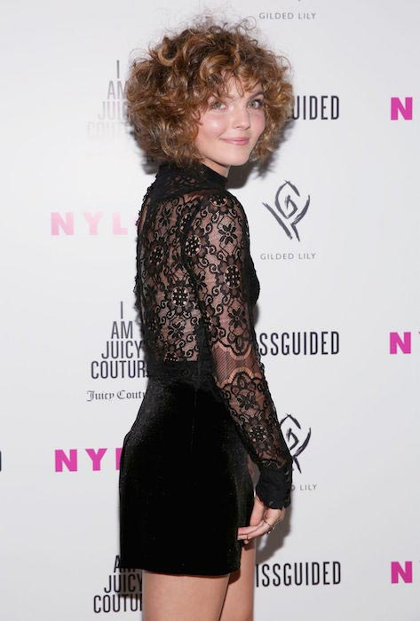 Camren Bicondova at Nylon's IT Girl Prom at Gilded Lily in New York City.