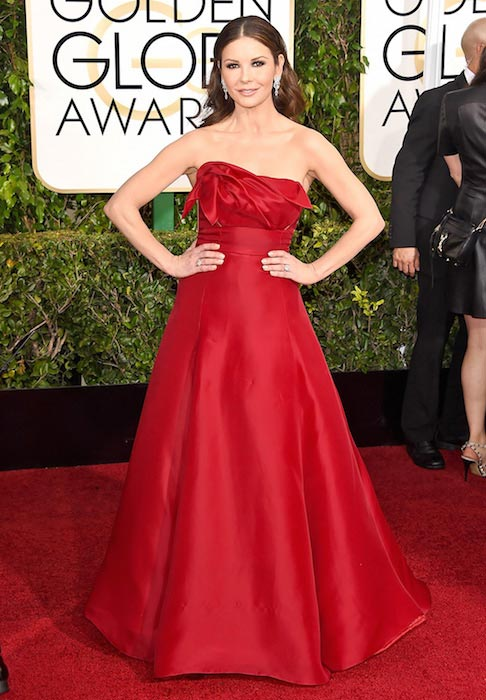 Catherine Zeta-Jones at Golden Globes 2015
